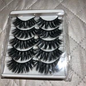 Other - 5 pair Faux Mink False Eyelashes